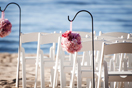 beach wedding ceremony catered loft reception